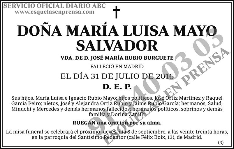 María Luisa Mayo Salvador